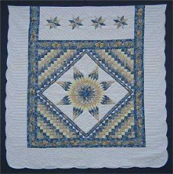 Custom Amish Quilts - Lonestar Commons Blue Gold Certified