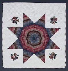 Custom Amish Quilts - Country Lonestar Applique Flowers