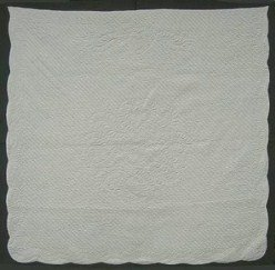 Custom Amish Quilts - Wholecloths Unique Rose Wreath Certified Mary Grace