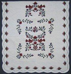 Custom Amish Quilts - Pennsylvania Dutch Wedding Applique