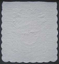 Custom Amish Quilts - Pulsating Star Wholecloth Quilting Certified
