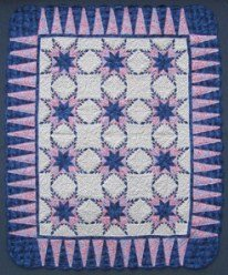 Custom Amish Quilts - Radiating Sawtooth Star Patchwork