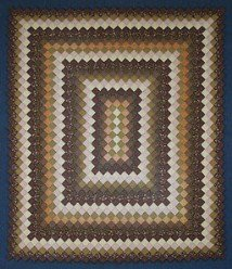Custom Amish Quilts - Brown Gold Boston Commons Patchwork