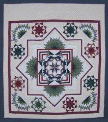 Custom Amish Quilts - Compass Star in Radiating Split Star