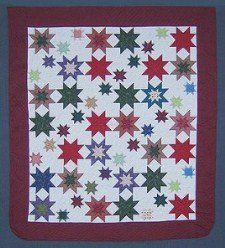 Custom Amish Quilts - Colorful Galaxy of Stars Patchwork