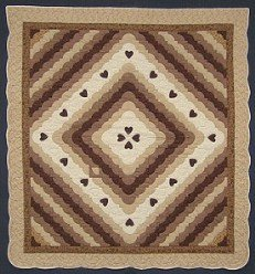 Custom Amish Quilts - Love the Ocean Sand Heart Patchwork