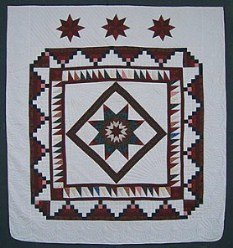 Custom Amish Quilts - Courtyard Steps Lone Star Patchwork