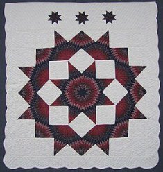 Custom Amish Quilts - King Broken Lone Star Patchwork
