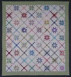 Custom Amish Quilts - Irish Chain Galaxy Star Patchwork