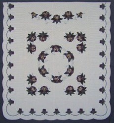 Custom Amish Quilts - Rose Wreath Applique Border