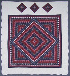 Custom Amish Quilts - Trip Around Boston Commons Patchwork