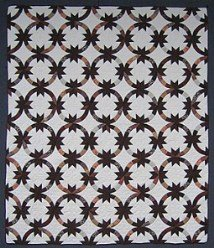 Custom Amish Quilts - Indian Wedding Ring Brown Patchwork