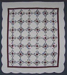 Custom Amish Quilts - Heirloom Diamonds Nine Patch Patchwork