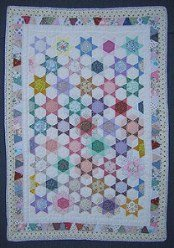Custom Amish Quilts - Galaxy Stars Small Quilt Wall Hanging