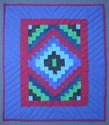 Custom Amish Quilts - Dutch Amish Trip Around World Small Quilt Wall Hanging