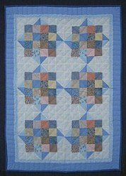 Custom Amish Quilts - Improved Nine Patch Small Quilt Wall Hanging