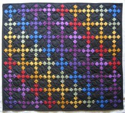 Custom Amish Quilts - Dutch Amish Rainbow Small Quilt Wall Hanging