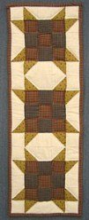 Custom Amish Quilts - Farmers Daughter Star Nine Patch Small Quilt Wall Hanging