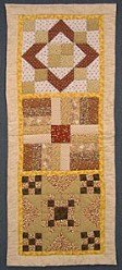 Custom Amish Quilts - Brown Sampler Small Quilt Wall Hanging