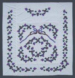Custom Amish Quilts - Grapes Applique Quilt Top