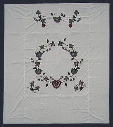 Custom Amish Quilts - Heart Roses Quilt Top
