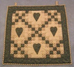 Custom Amish Quilts - Love Improved Irish Chain Certified Small Quilt Wall Hanging