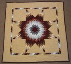 Custom Amish Quilts - Amish Dutch Chocolate Small Quilt Wall Hanging