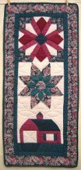 Custom Amish Quilts - Sampler Green Red Certified Small Quilt Wall Hanging