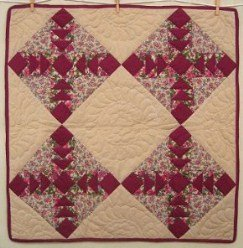 Custom Amish Quilts - Flying Geese Small Quilt Wall Hanging