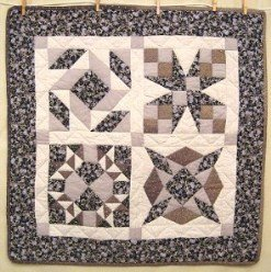 Custom Amish Quilts - Sampler Spin Star Small Quilt Wall Hanging