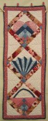 Custom Amish Quilts - Fan Sampler Small Quilt Wall Hanging