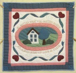 Custom Amish Quilts - Home Where Love Is Applique Certified Grandma Anna Small Quilt Wall Hanging