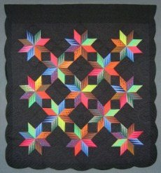 Custom Amish Quilts - Eight Pointed Star