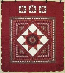 Custom Amish Quilts - Lonestar Common Red Patchwork