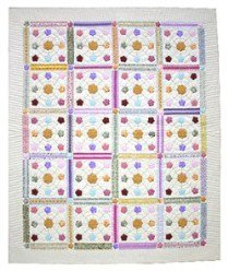Custom Amish Quilts - Rainbow Posies Applique Patchwork Quilting Bee Certified