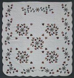 Custom Amish Quilts - Windblown Tulip Bouquet Applique