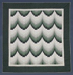 Custom Amish Quilts - Forest Bargello Steps Patchwork Rebecca Certified