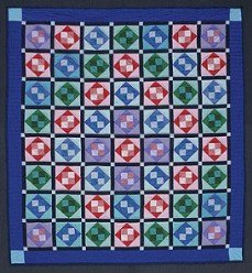 Custom Amish Quilts - Grandmas Attic Window Patchwork Amish Dutch Colors Certified