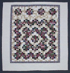 Custom Amish Quilts - Framed Improved Nine Patch Patchwork Tan
