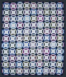 Custom Amish Quilts - Morning Glory Applique Purple Lavendar
