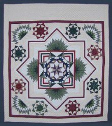 Custom Amish Quilts - Compass Star in Radiating Split Star
