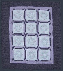 Custom Amish Quilts - Purple Hand Embroidered Patchwork Star