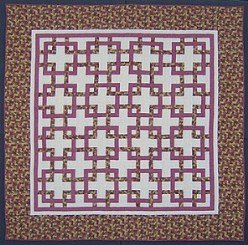 Custom Amish Quilts - Rose Garden Trellis Patchwork