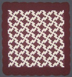 Custom Amish Quilts - Rob Peter Pay Paul Burgundy Patchwork