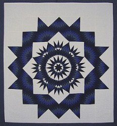 Custom Amish Quilts - Royal Broken Mariners Compass Star