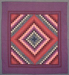 Custom Amish Quilts - Dutch Plum Burgundy Trip Around World