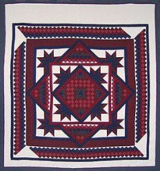 Custom Amish Quilts - Framed Broken Stars Around Commons