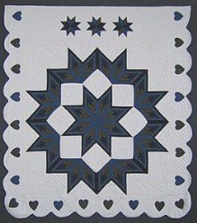 Custom Amish Quilts - Love Fan Star Broken Starburst Patchwork