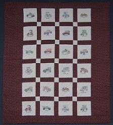 Custom Amish Quilts - Antique Automobile Hand Embroidery Patchwork