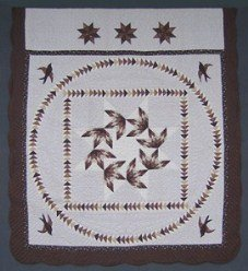 Custom Amish Quilts - Flying Geese Applique Patchwork